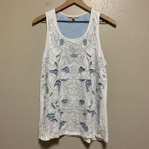Stitch Fix Skies are blue floral overlay tank top